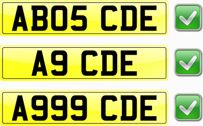 Correct Number Plate Spacing
