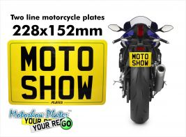 Special size motorcycle plate 228x163mm