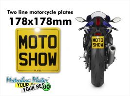 Special size motorcycle plate 178x178mm