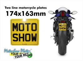 Special size motorcycle plate 174x163mm (6 digits only)