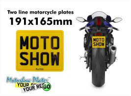 Motorcycle plate 191x165mm (Harley size)