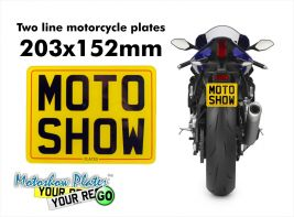 Motorcycle plate 203x152mm